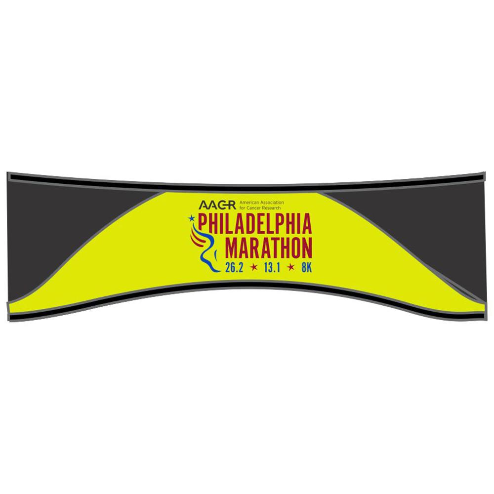 Philadelphia Marathon: 'Marathon' Thermal Ear Warmer - Hi Viz - by Headsweats