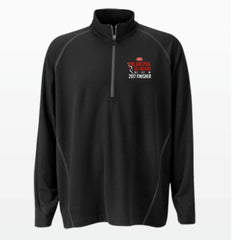 Philadelphia Marathon: '2017 Emb. Finisher 13.1' Men's Tech 'Vansport' Pullover 1/4 Zip - Black