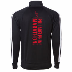 AACR Philadelphia Marathon 'Big Back' Men's Tech Fleece Track Full Zip Jacket - Black
