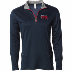 AACR Philadelphia Marathon 'Big Back' Men's Tech Red Piping 1/4 Zip Pullover - Navy