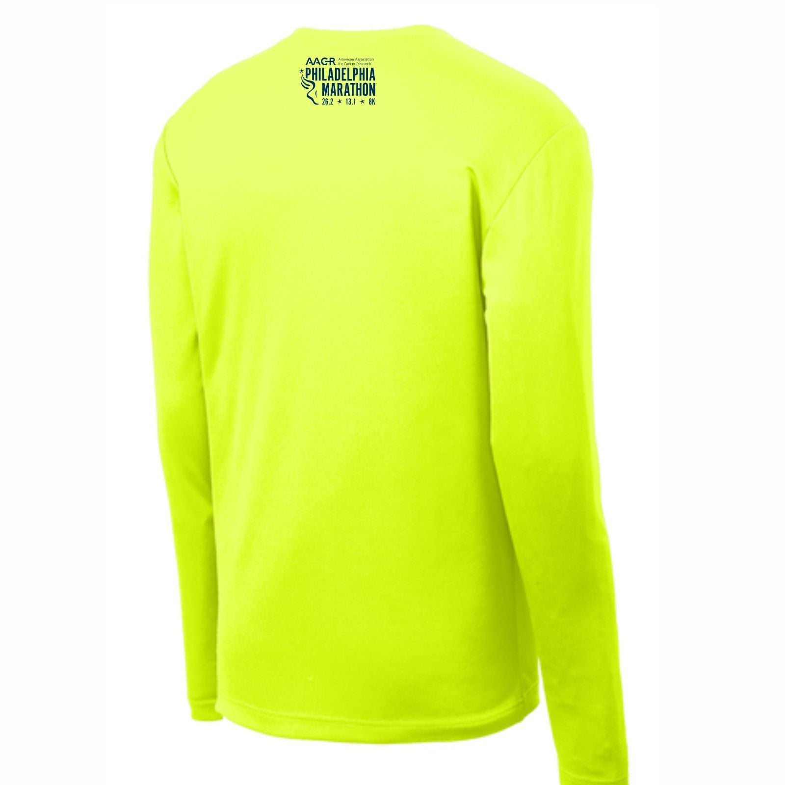AACR Philadelphia Marathon 'Run Philly' Men's LS Tech Tee - Nightlife