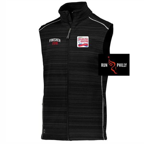 Dietz & Watson Philadelphia Half Marathon: 'Finisher LCE 25th Anniversary' Men's Tech 'Deviate' Full Zip Vest - Black