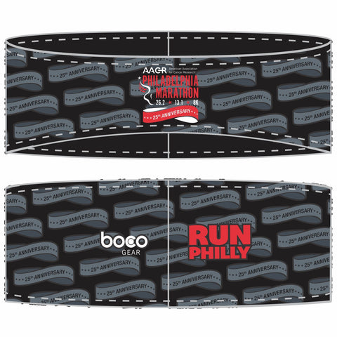 Philadelphia Marathon: '25th Anniversary' Sublimated Tech Ear Warmer - Black