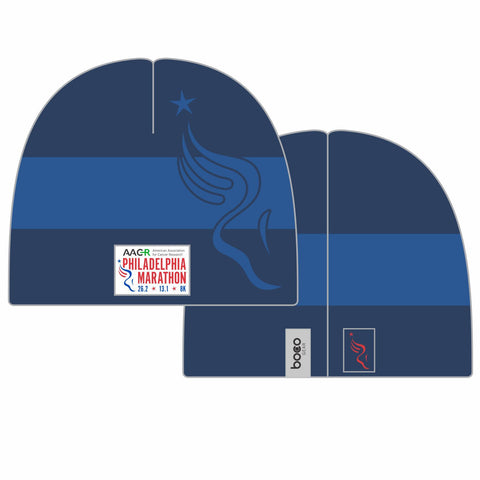 Philadelphia Marathon: 'Full Marathon' Knit Tech Beanie - Navy