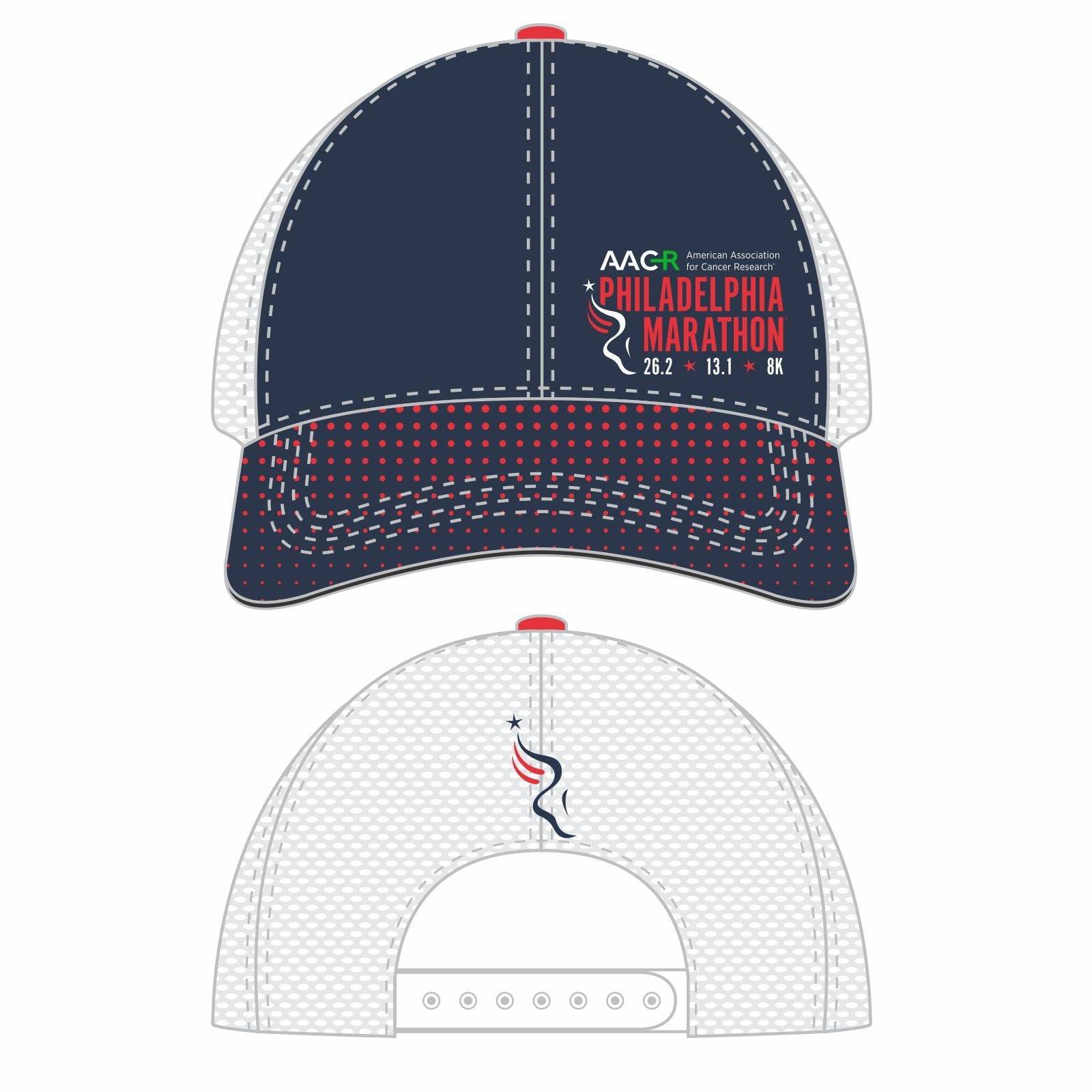 Philadelphia Marathon: 'Full Marathon' Relaxed Fit Tech Trucker - Navy