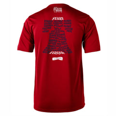 AACR Philadelphia Marathon 'Directions 26.2' Men's SS Tech Tee - Fiesta Red