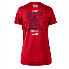 AACR Philadelphia Marathon 'Directions 26.2' Women's SS Tech Tee - Fiesta Red