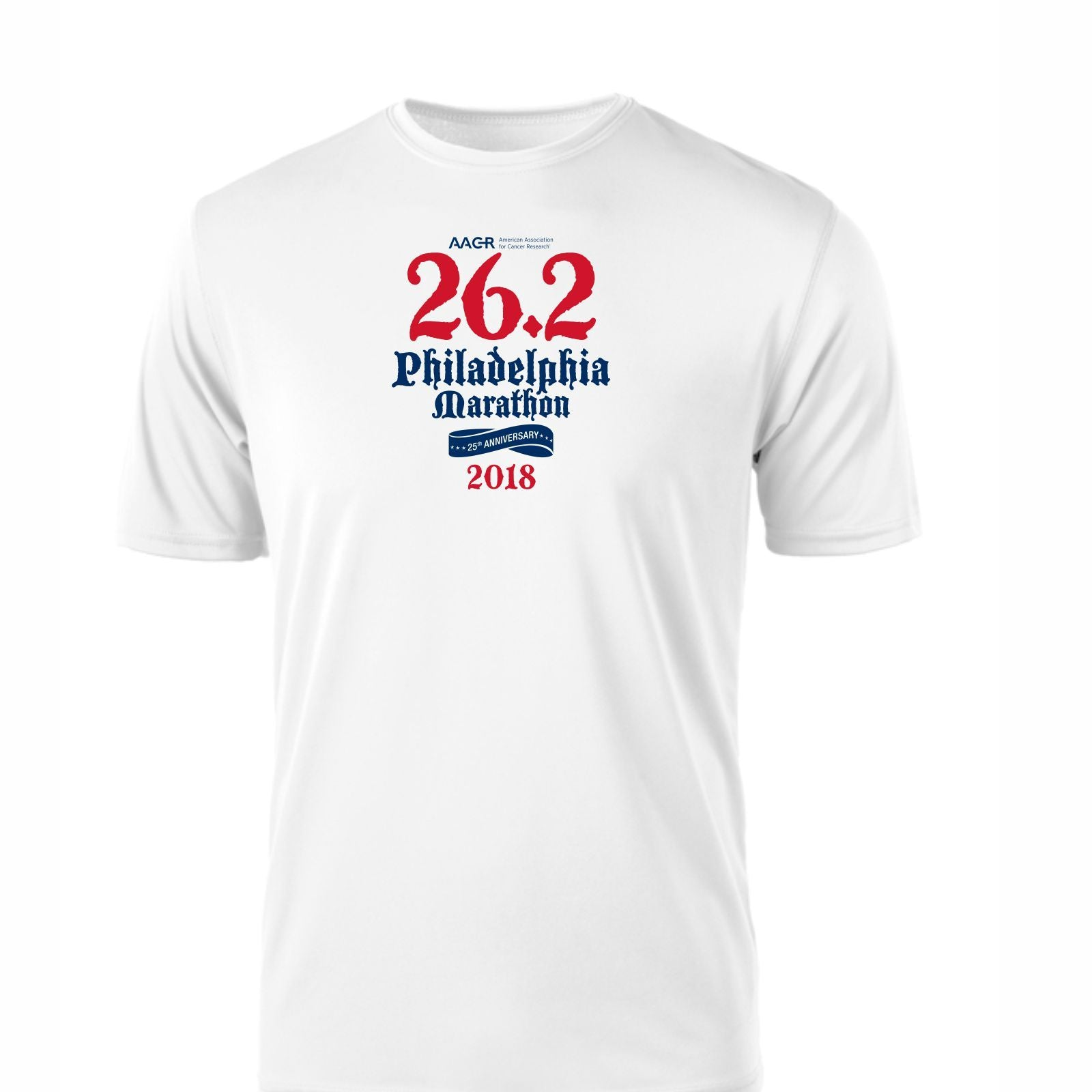 AACR Philadelphia Marathon 'Directions 26.2' Men's SS Tech Tee - White