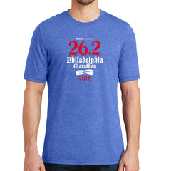 AACR Philadelphia Marathon 'Directions 26.2' Men's SS Tri-Blend Tee - Royal Frost