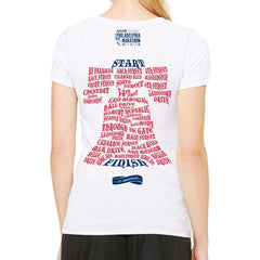 AACR Philadelphia Marathon 'Directions 26.2' Women's SS Tri-Blend Tee - White Heather