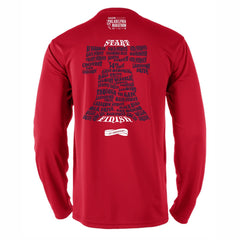 AACR Philadelphia Marathon 'Directions 26.2' Men's LS Tech Tee - Red