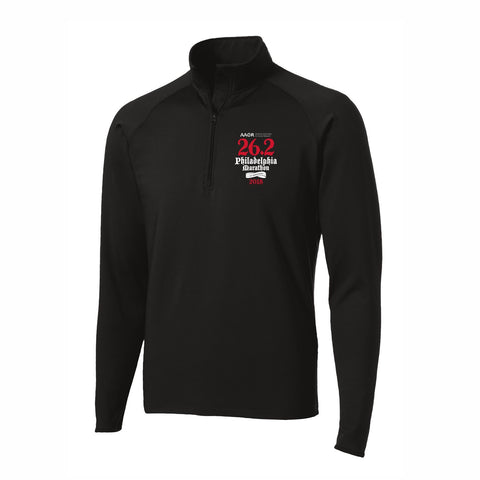 AACR Philadelphia Marathon 'Directions 26.2' Men's Tech 1/4 Zip Pullover - Black