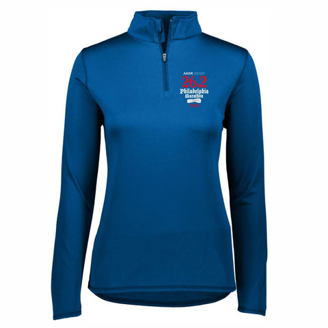 AACR Philadelphia Marathon 'Directions 26.2' Women's Tech 1/4 Zip Pullover - Royal