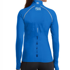 AACR Philadelphia Marathon 'Left Chest Print Vertical' Women's Tech 'Nexus' 1/4 Zip Pullover - Electric Blue