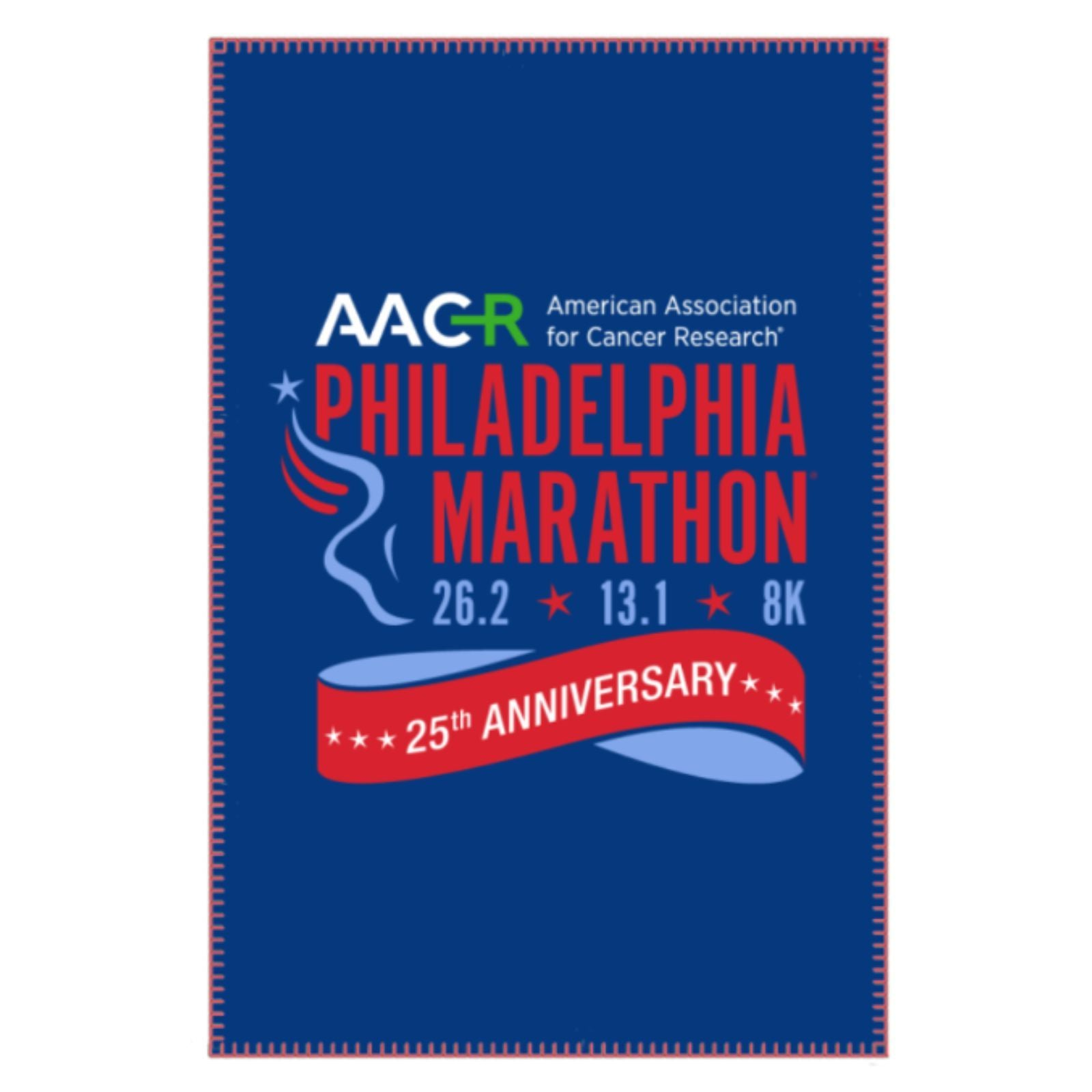 "AACR Philadelphia Marathon '25th Anniversary' 50""x60"" Fleece Blanket - Navy"