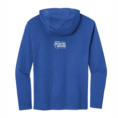 Men's Ltwt Triblend Hoody Tee -Deep Royal 'Big Star Design' - AACR Philadelphia Marathon