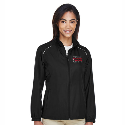 Women's Runner's Tech Zip Jacket -Black 'Big Back Design' - AACR Philadelphia Marathon