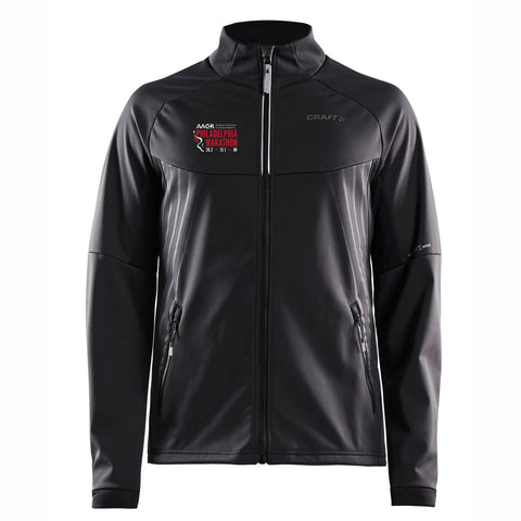 Men's CRAFT Tech Zip Jacket -Black 'Big Back Design' - AACR Philadelphia Marathon