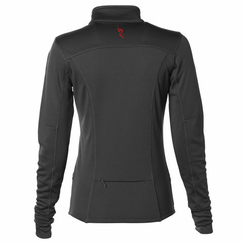 Women's Ltwt Tech Fleece Zip Jacket -Black 'Left Chest Embr. Design' - AACR Philadelphia Marathon