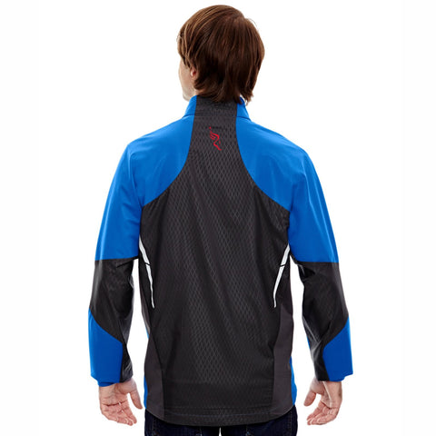 Men's 'Dynamo' Bonded Zip Jacket -Olympic Blue 'Left Chest Embr. Design' - AACR Philadelphia Marathon