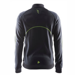 Men's CRAFT Training Zip Jacket -Asphalt (Green Trim) 'Left Chest Embr. Design' - AACR Philadelphia Marathon