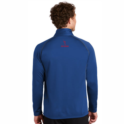 Men's Eddie Bauer Smooth Fleece Zip Jacket -Cobalt 'Finisher 2019 Embr. Design' - AACR Philadelphia Marathon