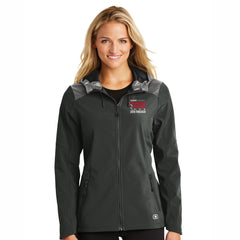 Women's Soft-Shell Zip Hoody -Blacktop 'Finisher 2019 Embr. Design' - AACR Philadelphia Marathon