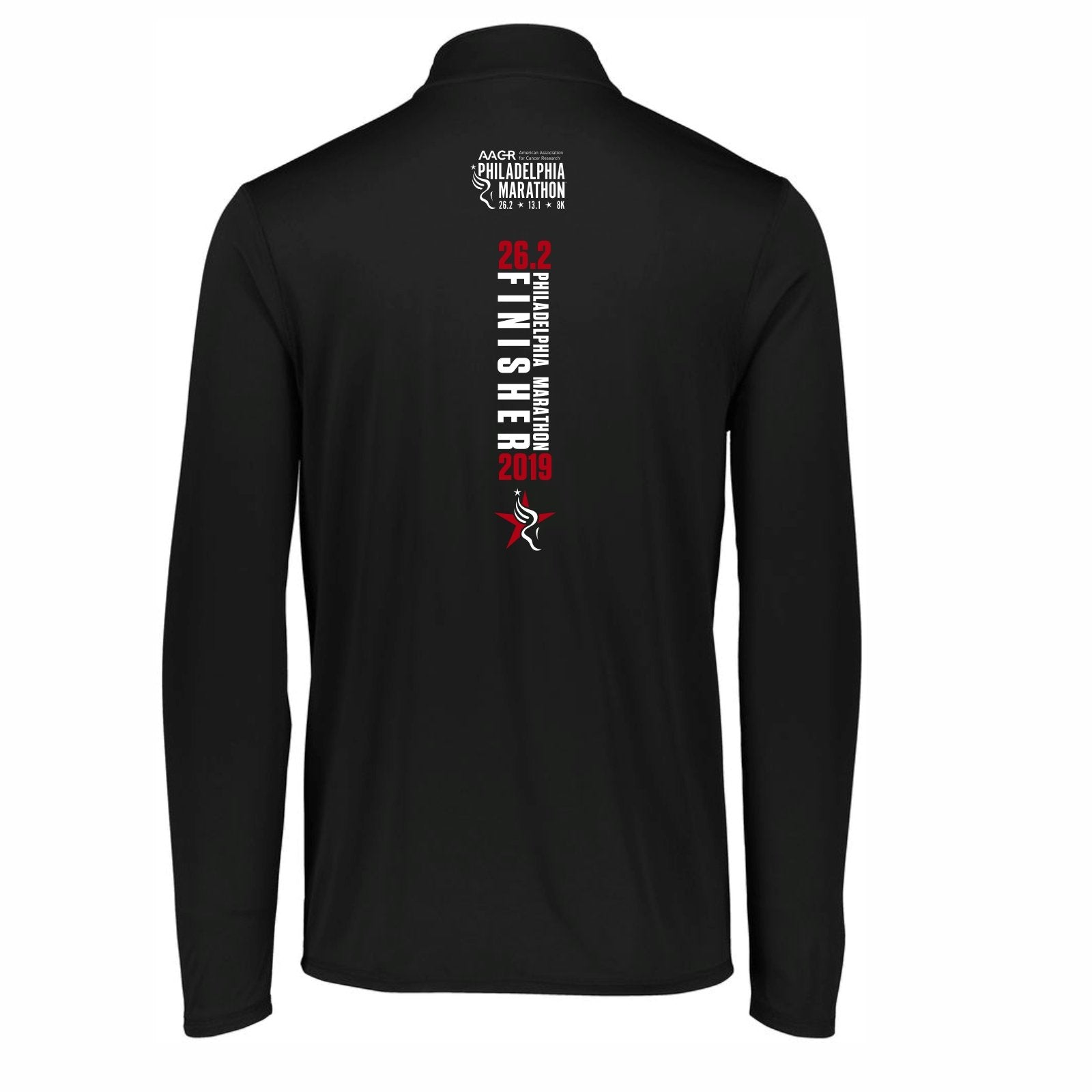 Men's 'Finisher 2019' Tech 1/4 Zip -Black - AACR Philadelphia Marathon