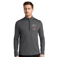 Men's 'Finisher 2019' Stretch Tech 1/4 Zip -Gear Grey Heather - AACR Philadelphia Marathon