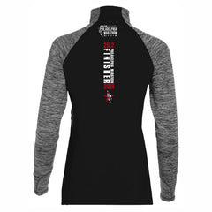 Women's 'Finisher 2019' Shoulder-Zip Tech 1/4 Zip -Black / Carbon Heather - AACR Philadelphia Marathon
