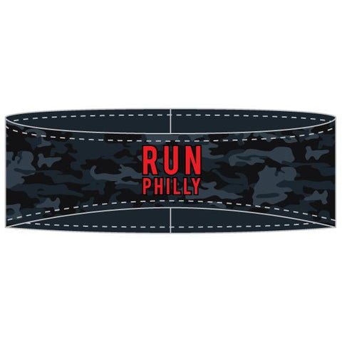 Sublimated Tech Ear Warmer -Black Camo 'AACR Run Philly Design' - AACR Philadelphia Marathon