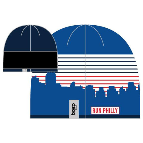 Knit Tech Beanie -Royal / Stripes 'AACR Skyline Design' - AACR Philadelphia Marathon