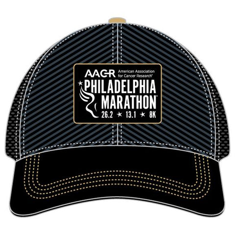 Relaxed Fit Tech Trucker -Black / Grey / Gold Accents 'AACR Design' - AACR Philadelphia Marathon