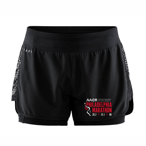 "Women's Craft Tech 3.5"" Runner's Shorts -Black 'AACR Logo Design' - AACR Philadelphia Marathon"