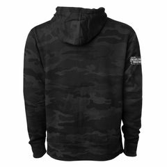 Men's Fleece Hoody -Black Camo 'Arch Design' - AACR Philadelphia Marathon