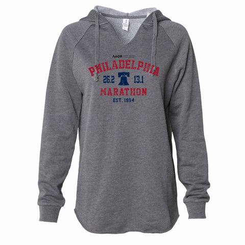 Women's Garment-Washed Hoody -Shadow 'Arch Design' - AACR Philadelphia Marathon