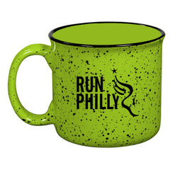 Campfire Ceramic 15 oz Mug -Lime 'AACR Run Philly Design' - AACR Philadelphia Marathon