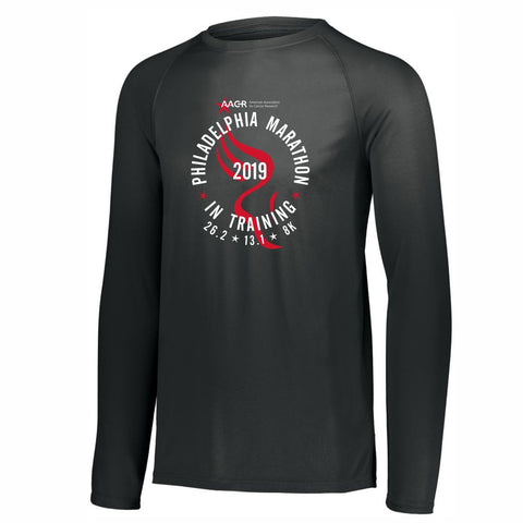 AACR Philadelphia Marathon 'In Training 2019' Men's LS Tech Tee