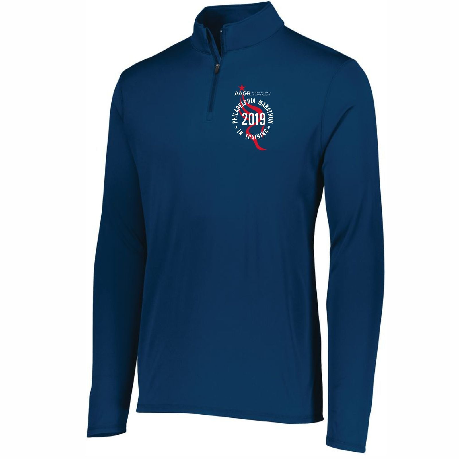AACR Philadelphia Marathon 'In Training 2019' Men's Tech 1/4 Zip Pullover - Navy