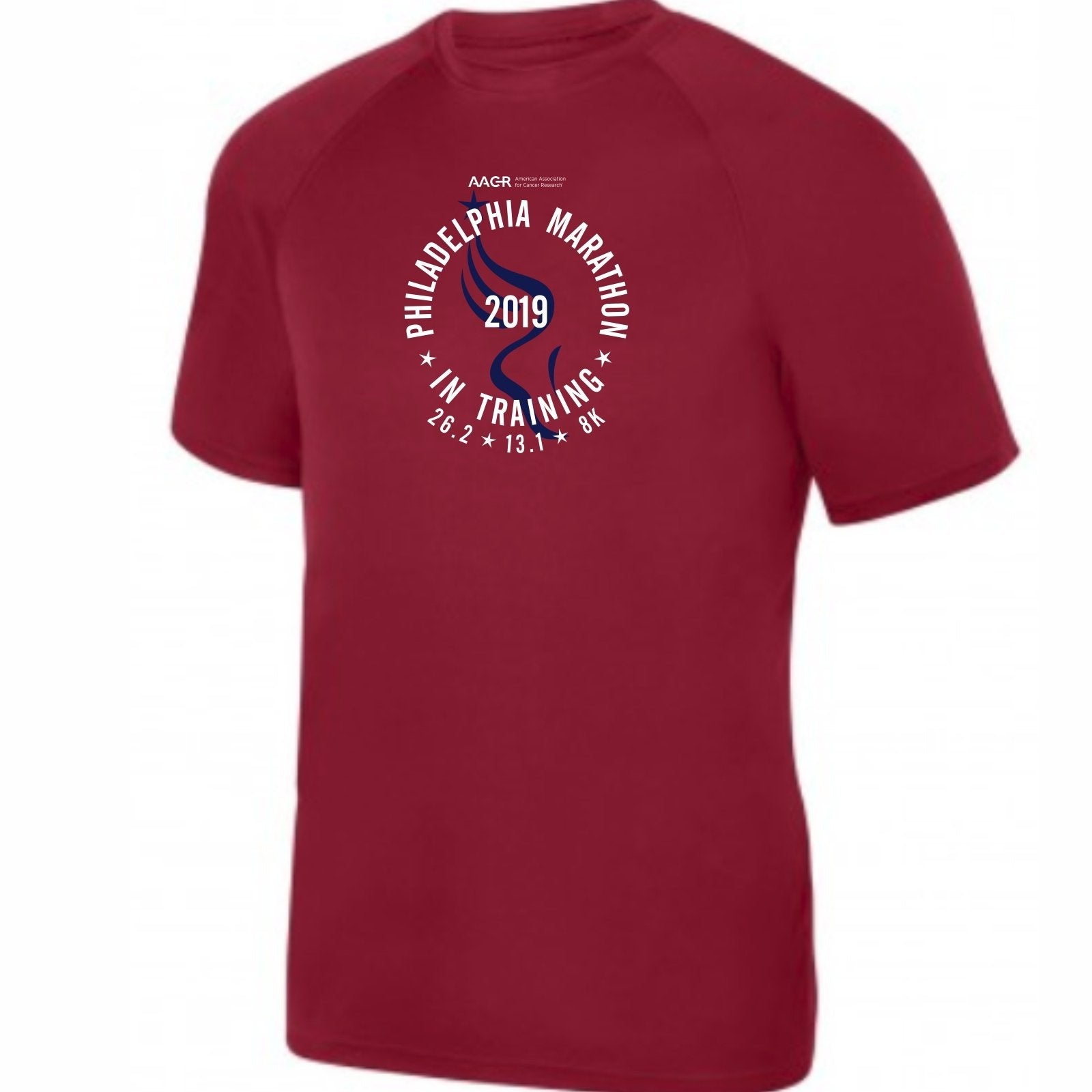 2019 AACR Philadelphia Marathon Men's In-Training SS Tee - Cardinal