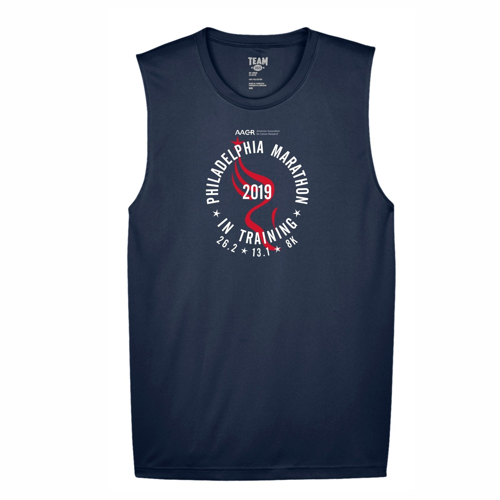 2019 AACR Philadelphia Marathon Men's In-Training Sports Tank - Navy
