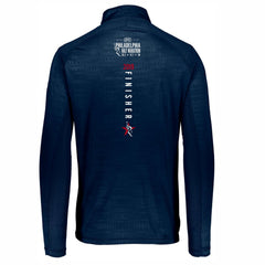 Men's '2019 Finisher' Embossed Tech 1/4 Zip -Navy - Dietz & Watson Philadelphia Half Marathon