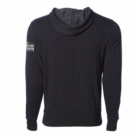 Adult French Terry Hoody -Charcoal Heather 'Arch Design' - AACR Philadelphia Marathon