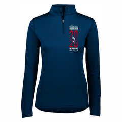 Women's Tech 1/4 Zip -Navy 'In Training 2020 Design' - AACR Philadelphia Marathon