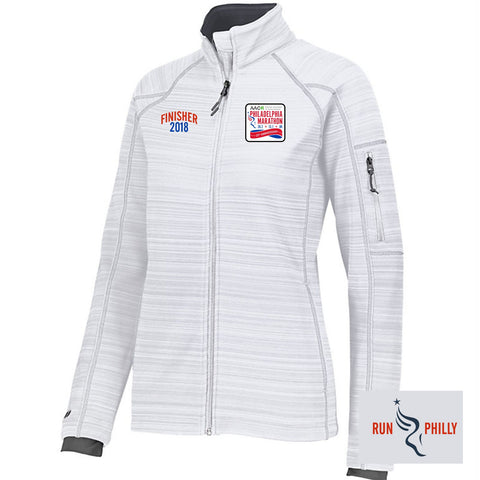 AACR Philadelphia Marathon 'Finisher LCE 25th Anniversary' Women's 'Deviate' Full Zip Bonded Tech Jacket - NAVY or White (Select Sizes Only)
