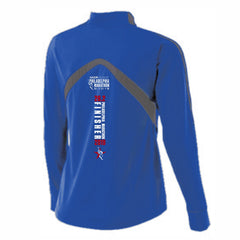 Women's 'Finisher 2019' Colorblock Tech 1/4 Zip -Royal - AACR Philadelphia Marathon