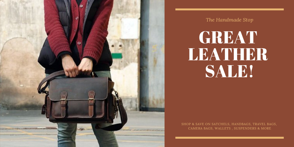Handmade Leather Bag Sale. Free Shipping