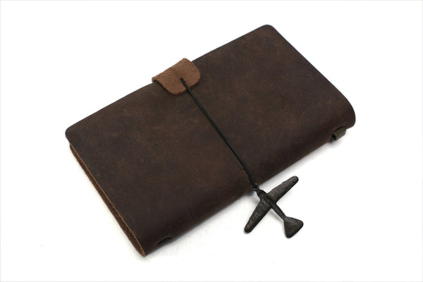 Handmade Rustic Leather Journal - Blue Sebe Handmade Leather Bags