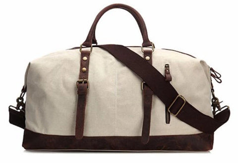 6d4f34cbc2 Handmade Waxed Canvas with Leather Trim Holdall Travel Duffle Bag