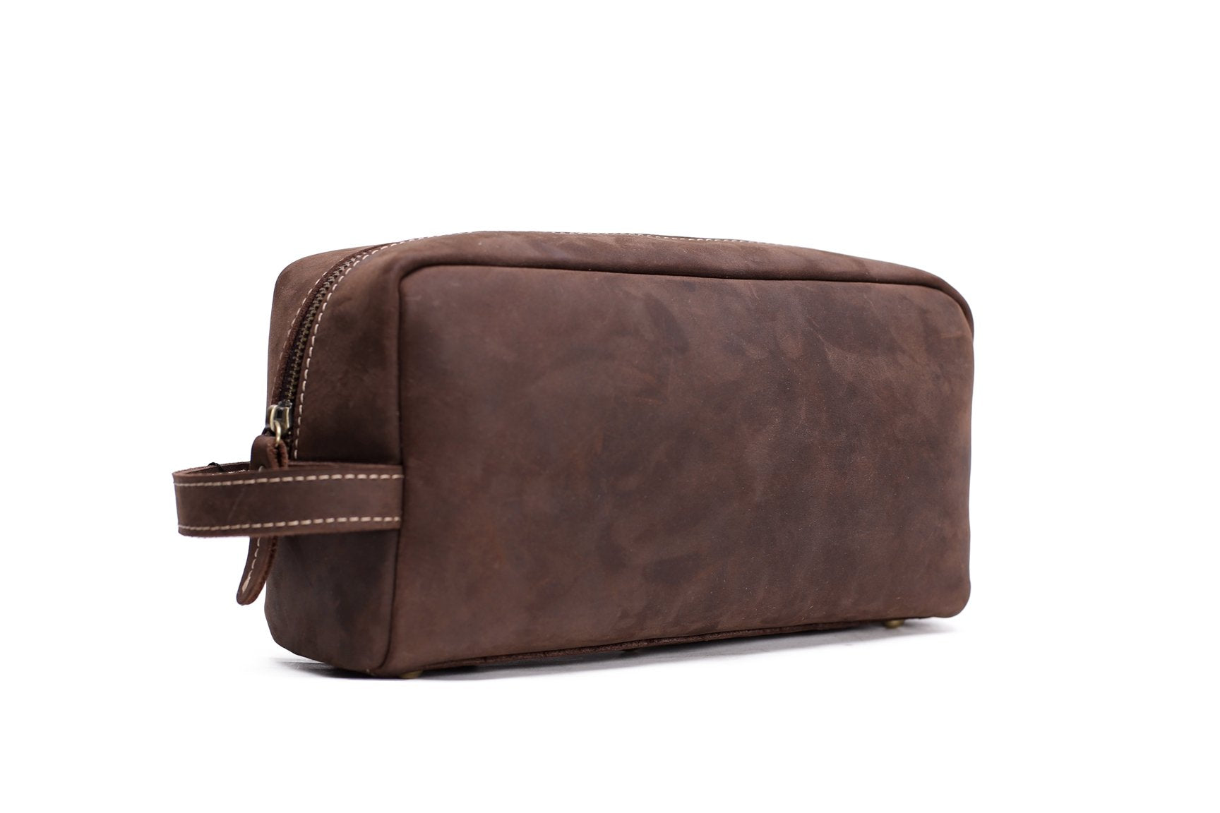 Handmade Vintage Leather Men's Clutch, Travel Pouch - Blue Sebe